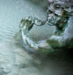 Statue, fontaine, Girondins, monument, Bordeaux, eau